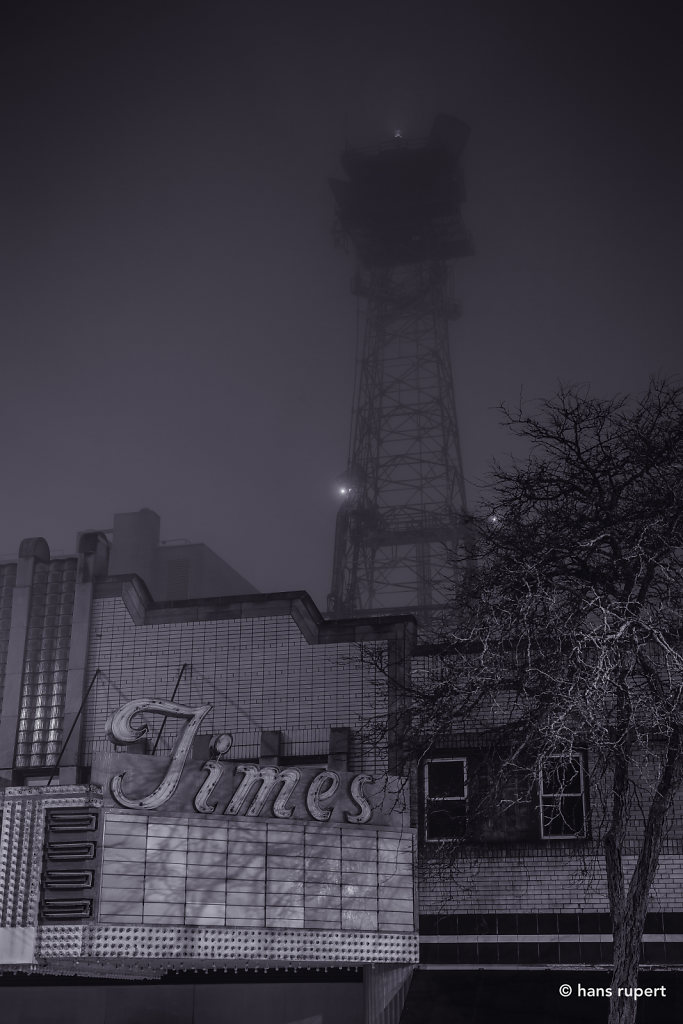 Tiems Theater Fog & AT&T Tower